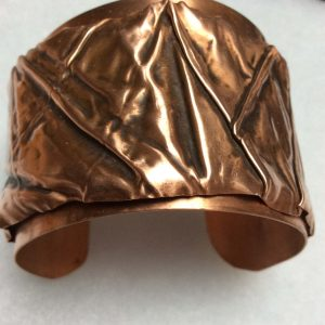 Foldformed copper bangle