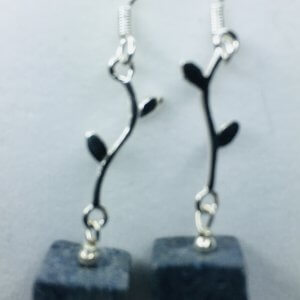 Blue Ridge Coral Silver Earrings