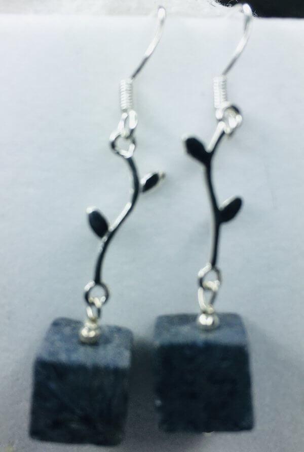 Blue Ridge Coral Silver Earrings