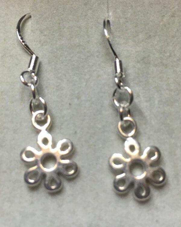 Silver Flowers Earrings