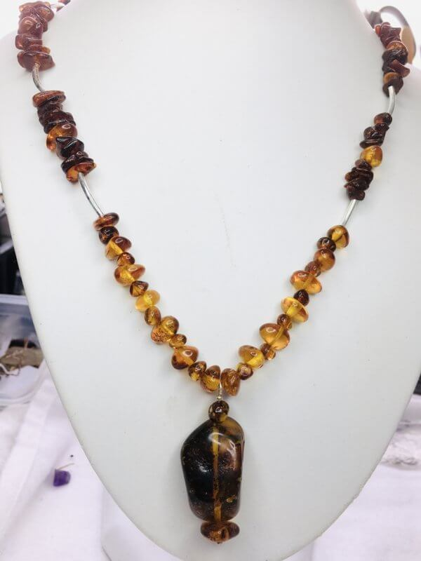 Baltic Amber, Sterling silver necklace