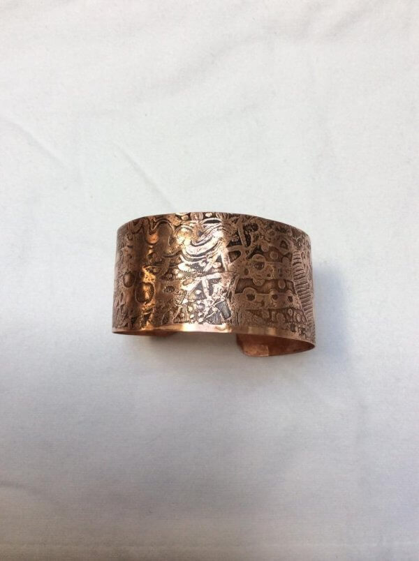 Copper etched bangle 6
