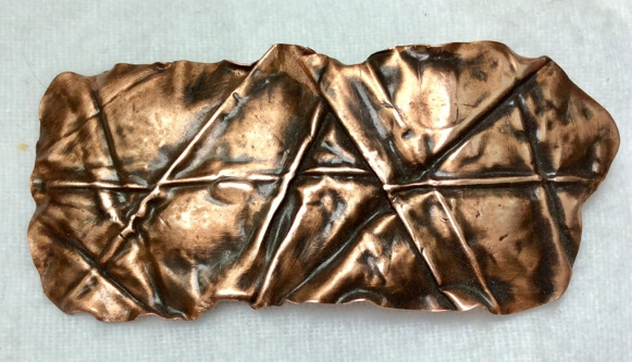 Copper, foldformed brooch