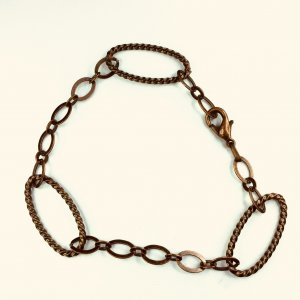 Antiqued, copper chain
