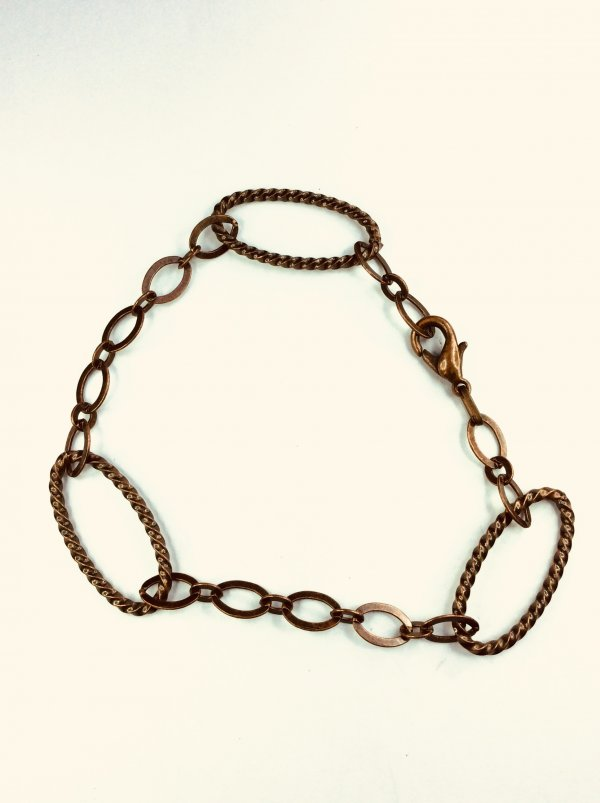 Antiqued, copper chain