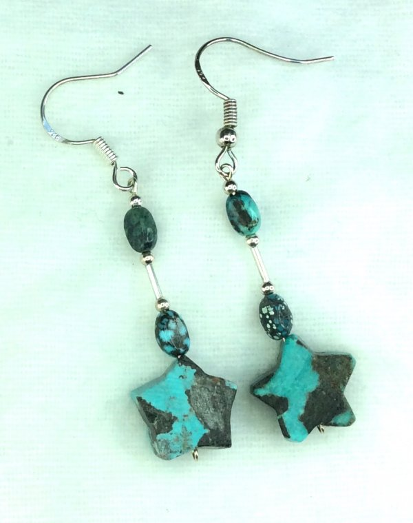 Arizona turquoise, sterling silver