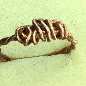 Copper wire twist ring