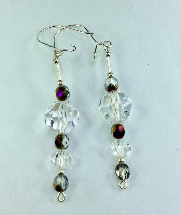 Egyptian crystal, czech crystal sterling silver