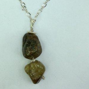 Green garnet, sterling silver