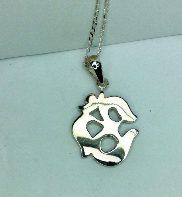 sterling silver OM , sterling silver chain