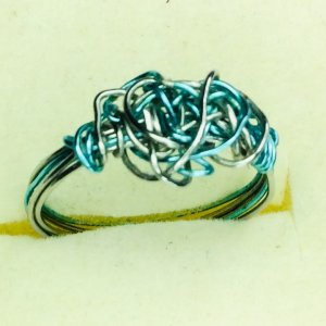 artistic wire, stainless steel, ring
