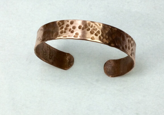 copper hammered bangle