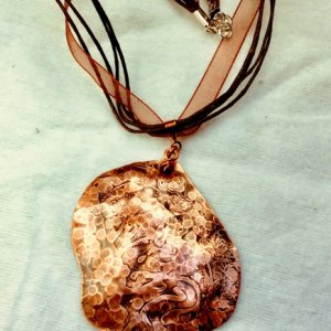 Copper etched Hammered silk