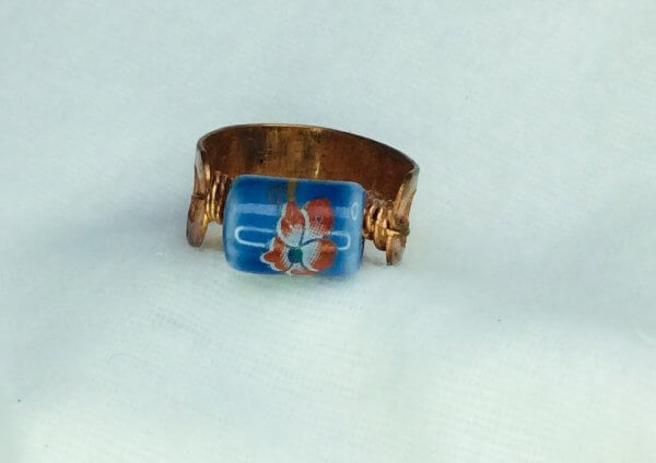 Copper ring (recycled copper) Chinese porcelain
