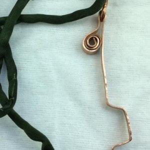 Copper Hammered, silk