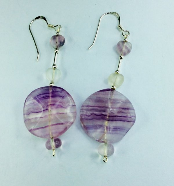 Flourite, sterling silver