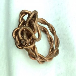 Large copper wire ring