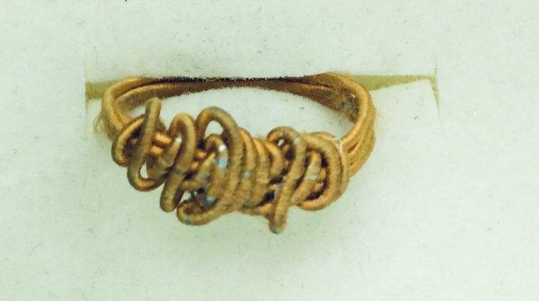 Mustard silk covered artistic wire