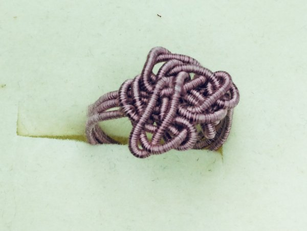 Lavender silk covered artistic wire