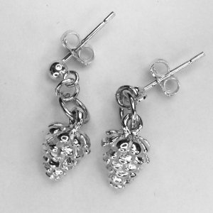 Sterling silver pine cones
