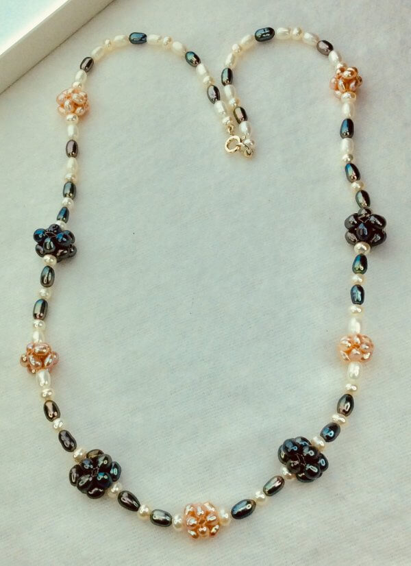 Freshwater pearl clusters sterling silver