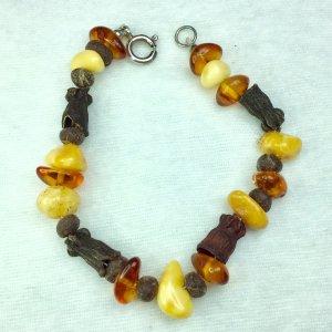 Baltic amber, myrrh sterling silver