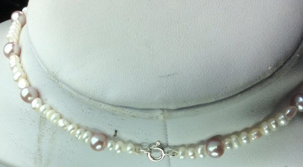 Freshwater pearl, sterling silver