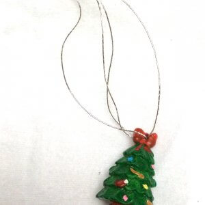 Resin christmas tree ornament