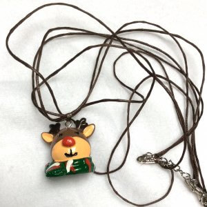 Resin rudolph pendant silk adjustable