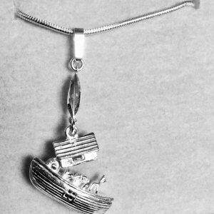 sterling silver noah's arc open