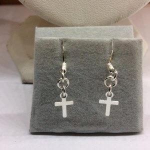 Sterling Silver small Crosses Earrings