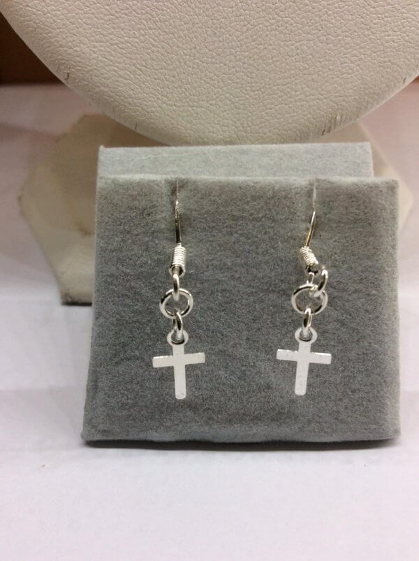 Sterling Silver small Crosses Earrings